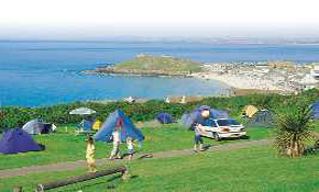 Sea view and camping pitches