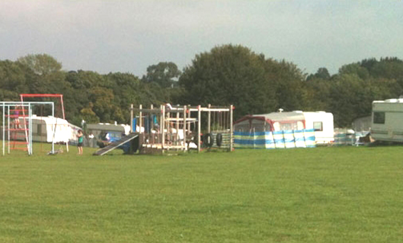 Main touring field and play equipment