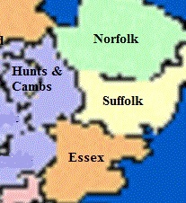 Map of East Anglia