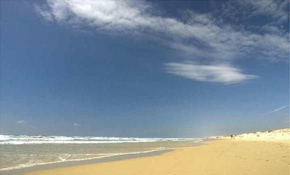Beach 8 kilometres away
