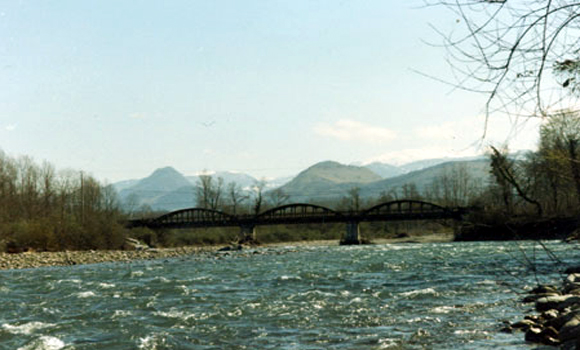 Bridge over river