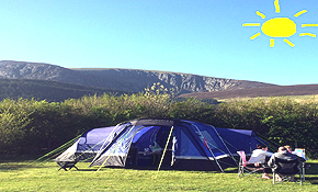 Grass camping pitch