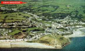 Aerial view of Criccieth