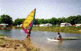 Windsurfing and canoeing