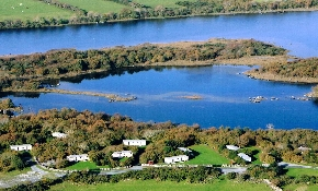 Aerial view of site beside Lough