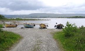 Boats beside lough
