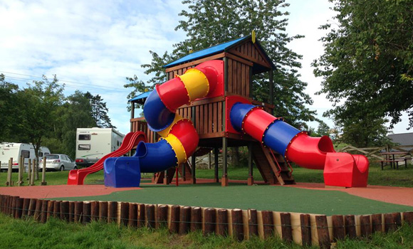 Children's play area and touring pitches