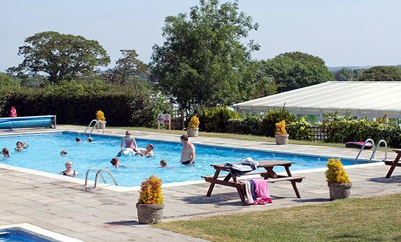 Fun in the outdoor pool