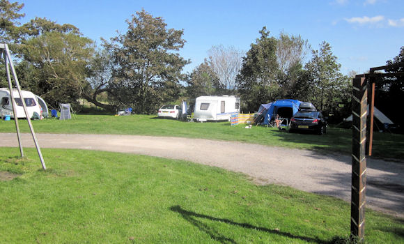 Caravans pitched up