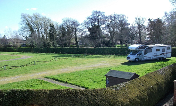 Main field with tourers