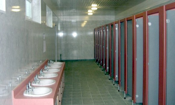 Inside toilet facilities