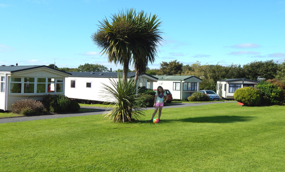 Holiday caravans in the sunshine