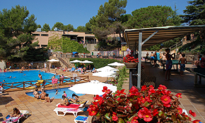 Outdoor pool and activity area