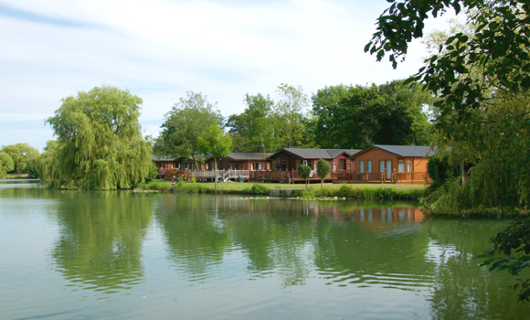 Lodges by lake