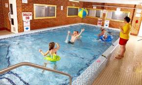 Fun in the indoor pool