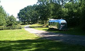 View of Airstream caravan