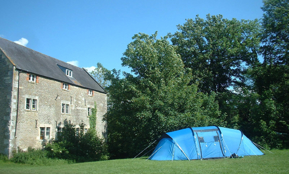 Main house and camping field